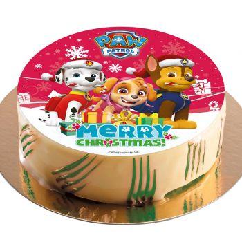 Disc tortenaufleger paw patrol Weihnachten 20 cm