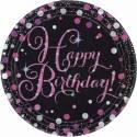 Happy Birthday Glitzer Pink